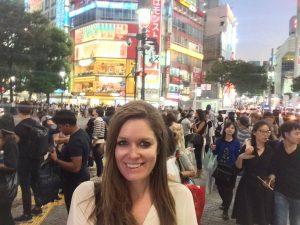 MoreTravelinLife Sarah Tarvin Shibuya Crossing Japan