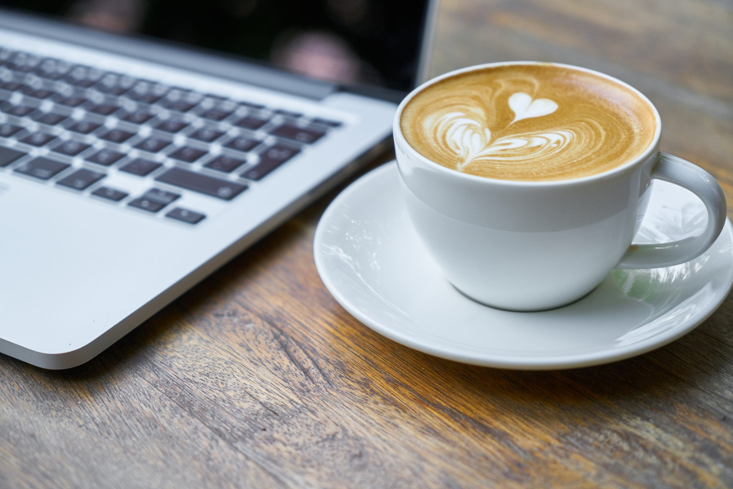 A Virtual Coffee Chat? Laptop and Latte